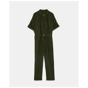 ZARA BUCKLED JUMPSUIT